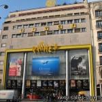 Cinéma Pathé Wepler à Paris: façade du multiplexe Pathé.