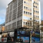 Cinéma UGC Montparnasse à Paris: détail de la façade du cinéma.