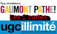 Liste des salles acceptant les deux cartes UGC Illimite et Le Pass Gaumont-Pathé