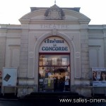 Façade du cinéma le Concorde à pont l'Evêque dans le Calvados