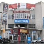 Gaumont Saint-Denis: façade du multiplexe Gaumont de 9 salles.