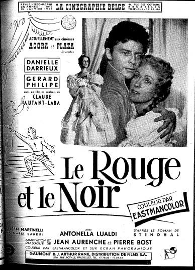Anciennes publicit s de cin ma salles histoire et photos des sa - Rouge et noir cinema ...