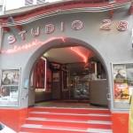 La façade du cinéma Studio 28 à Paris