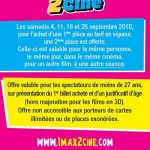 1Max2Ciné: le deuxième film gratuit pour les moins de 27 ans !
