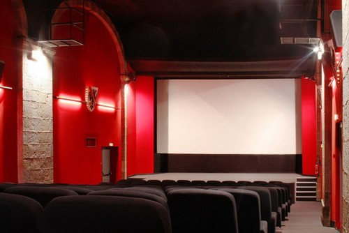 Intérieur de la salle de cinéma de Cancale