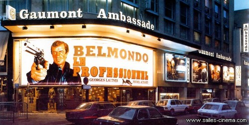 Belmondo à l'affiche du Gaumont Ambassade