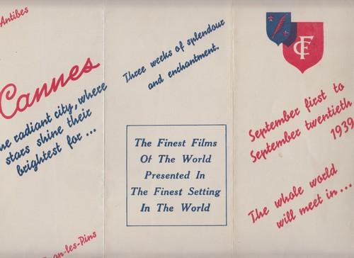 L'invitation de Cannes 1939 par Marco de Gastyne